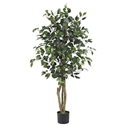 Nearly Natural 4 Ft Ficus Silk Tree