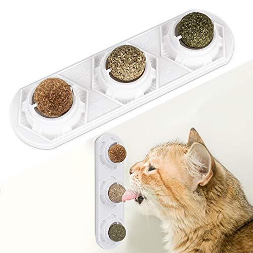 Juguetes Gato, Bolas comestibles de hierba gatera seguras y saludables para lamer golosinas para gatos y gatitos