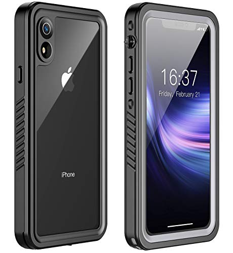 iPhone XR Case, ROBO Full-Body Rugged Shockproof Case with Built-in Screen Protector Compatible with iPhone XR (6.1 -