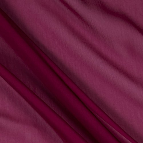 (Ben Textiles Two Tone Chiffon Raspberry Fabric by The Yard,)
