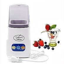 Yogurt Maker,1.0L Capacity Mini Automatic Homemade Greek Yogurt Machine (B-white)