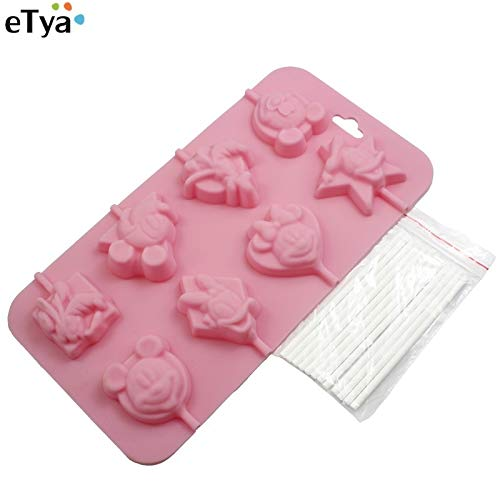 - Baguio-Store - 8 cup DIY cartoon character shape silicone ice plate gift cookies ice chocolate mold lollipops mold candy baking mold