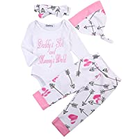 Newborn Girls Clothes Baby Romper Outfit Pants Set Long Sleeve Winter Clothin...