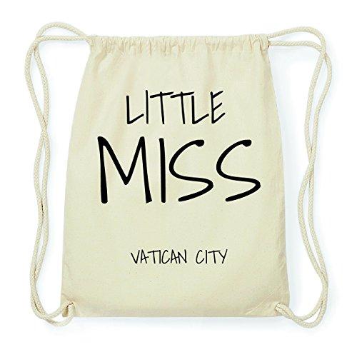 JOllify VATICAN CITY Hipster Turnbeutel Tasche Rucksack aus Baumwolle - Farbe: natur Design: Little Miss Nq9lWG