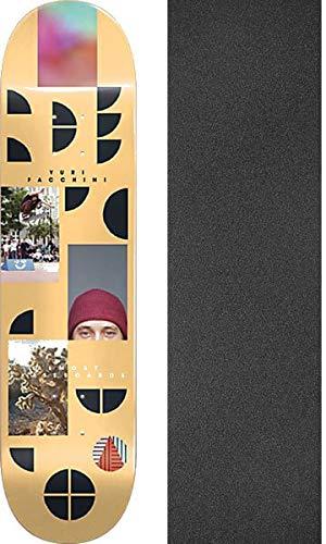 仮定フィット唯一AlmostスケートボードYuri Facchiniフラグメントスケートボードデッキresin-7 – 8.12 X 31.7 CMでMob Grip Perforated Griptape – 2アイテムのバンドル