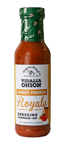 Virginia Brand Vidalia Onion Honey French Royale Salad Dressing , 12 Ounce Bottle (Pack of 6)