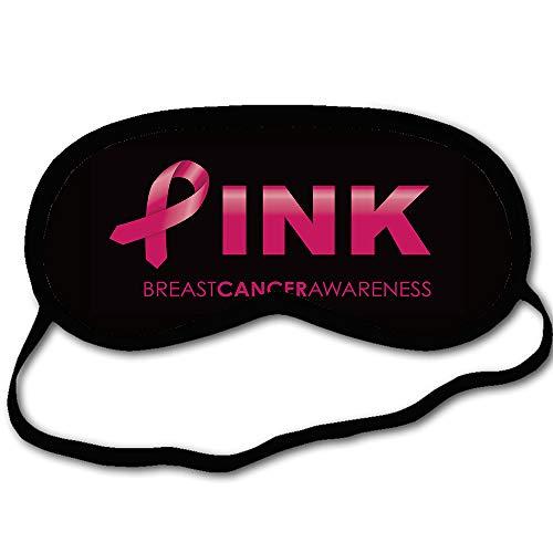 Eprocase Personalized Sleep Mask Pink Breat Cancer Awareness Sleeping Mask with Words Funny Eyemask with Adjustable Strap Blindfold Contoured for -
