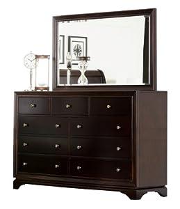 abbyson living lancaster 9 drawer dresser and mirror home kitchen. Black Bedroom Furniture Sets. Home Design Ideas