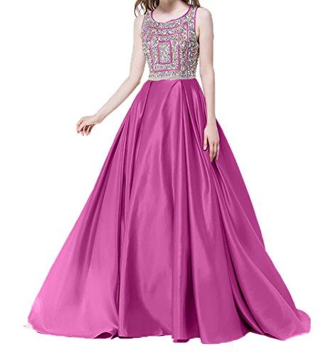 Abendkleider Satin Pailletten Lang 2018 Kleider Pink Jugendweihe Neu Ballkleider mit Damen Festlichkleider Charmant Damen ITqvwBT7