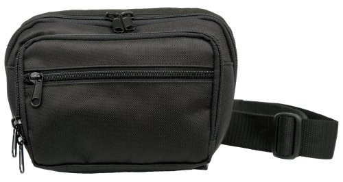 Uncle Mike's Off-Duty and Concealment Nylon/Poly/PVC Fanny Pack Compact Bag, Black ()