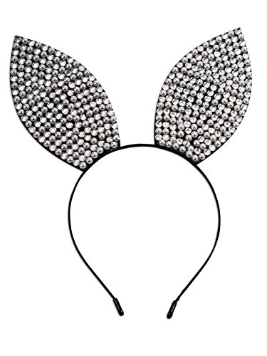 Forum Novelties Shiny Rhinestone Bunny Ears Headband -