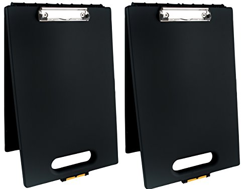 Dexas 1717-912PK Office Clipcase Storage Clipboard, Set of Two, Black, 2 Piece