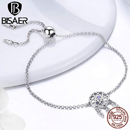 Vintage 925 Sterling Silver Dream Catcher Chain Bracelets | Fashion Dream Catcher Silver Jewelry for - Sterling Dreamcatcher
