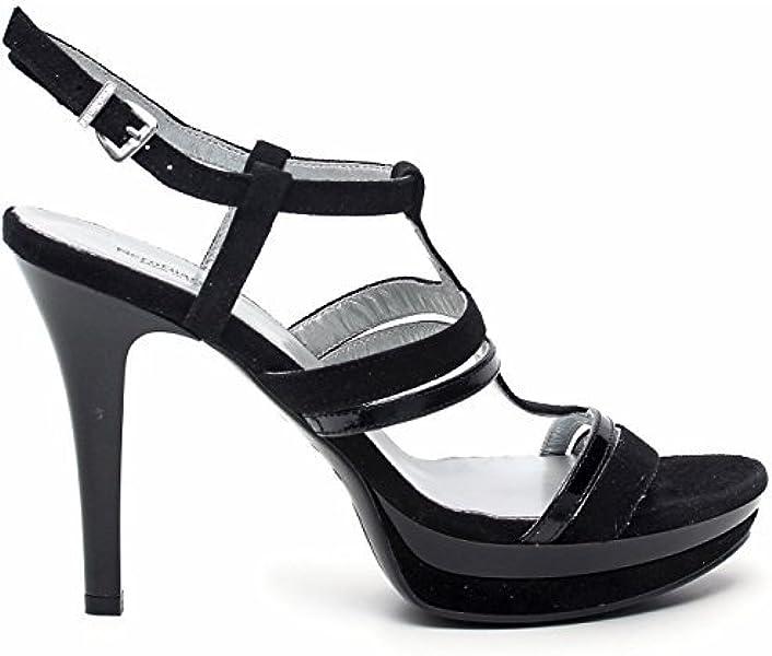 Nero Giardini Sandalo Elegante Capra Scamosciata Nero