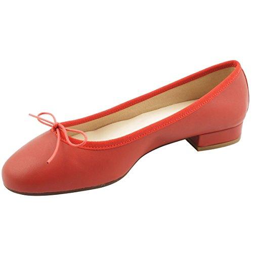 Rojo Mujer Bailarinas Exclusif para Paris qwSgxP
