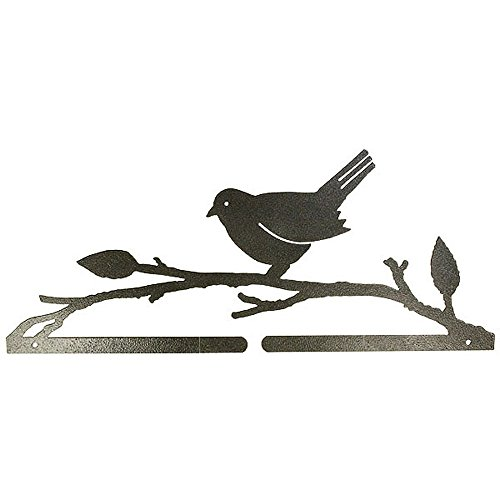 Ackfeld 14-1/2in Bird On A Branch Split Bottom Holder Charcoal, 14-1/2
