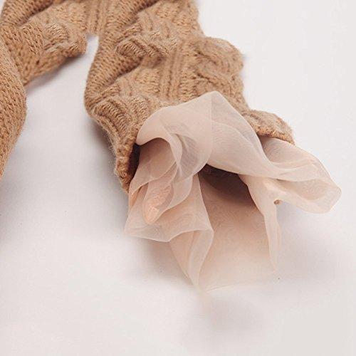 Pullover A Supera Maglione Tutu Invernali Lavorato Marrone Ragazze Jianlanptt Uncinetto Maglia Vestito 5ZIxwTIvq