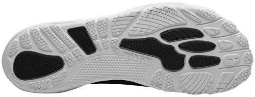 Paperplanes-1360-3 Unisex Mesh Super Light Aqua Zapatos Slip-on 1360-negro Blanco