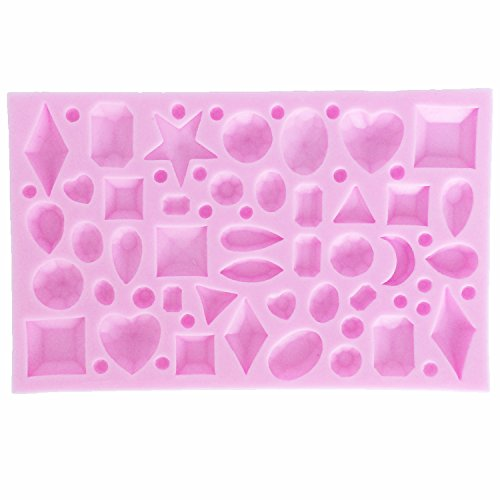 Funshowcase Tiny Diamond Gems Assorted Shapes Silicone Mold, for Cake Cupcake Decorating, Crafting, Polymer Clay, Resin (Tiny Resin)