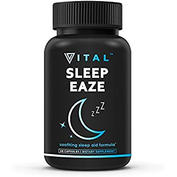 Sleep EAZE Premium Sleep Aid - with Melatonin & Valerian Root - Sleep Well, Wake Refreshed - Non Habit Forming Sleep Supplement - Includes Chamomile, ...