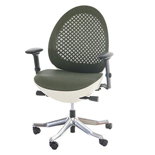 Bürostuhl MERRYFAIR Ovo, Schreibtischstuhl, Polster/Netz, ergonomisch ~ olive, Schale creme