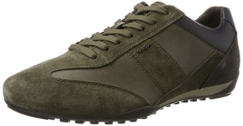 Geox U Wells a, Zapatillas para Hombre Marrón (Dk Taupe/anthracite)