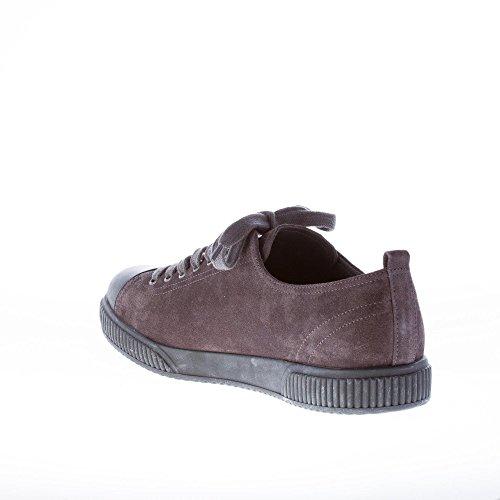 Punta Sneaker Uomo Asfalto in in Gomma Grigio camoscio Prada con YvwHnHA