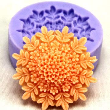 F0127 Silicone Flower Cake Mould Soap Chocolate Fondant Mould - Bakeware & Accessories Fondant Pastry Moulds -