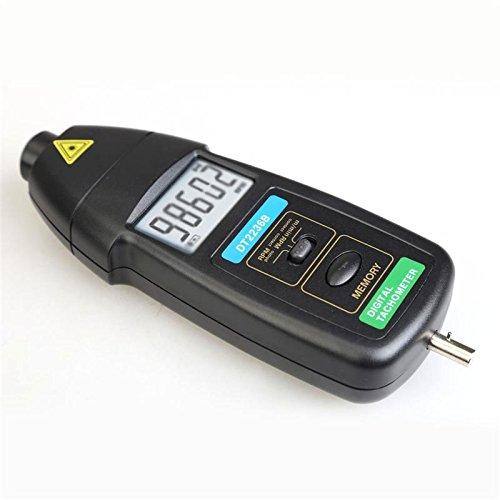 デジタル式回転計 接触式/非接触式両用 様々な物の回転数を手軽にデジタル計測できます FMTDT2236B<br />