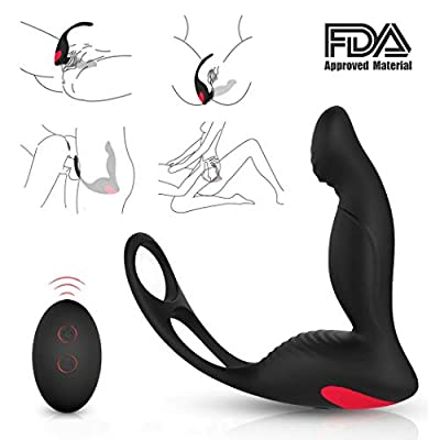 Rechargeable Electric Massager with 10 Multiple Vibrating Speed and Patterns, Wireless Remote Control Therapeutic Personal Massager for Body Deep Tissue Massage, Waterproof & Whisper Quie
