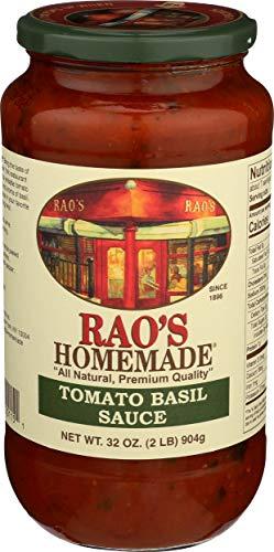 RAOS Tomato Basil Pasta Sauce, 32 OZ (Homemade Marinara Sauce With Fresh Tomatoes And Basil)