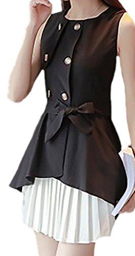 erdbeerloft - Damen 2-teiliges Kleid, Rock und Shirt, 34-42, Schwarz