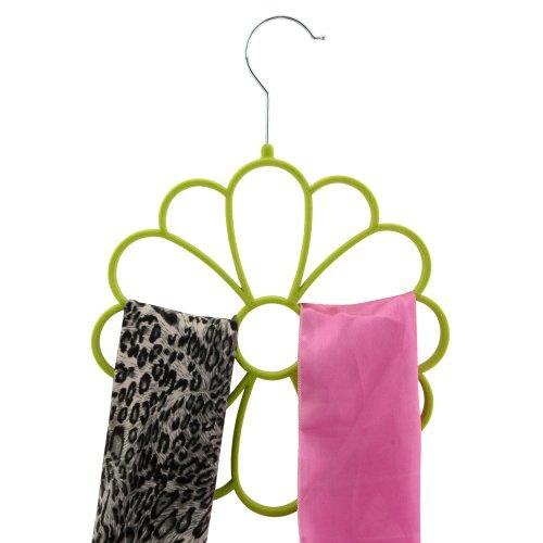 Home-Cube® Velvet Scarf Shawl Wraps Storage Organizer Holder 12 Hole Haijb Hanger Hook Cap,Green