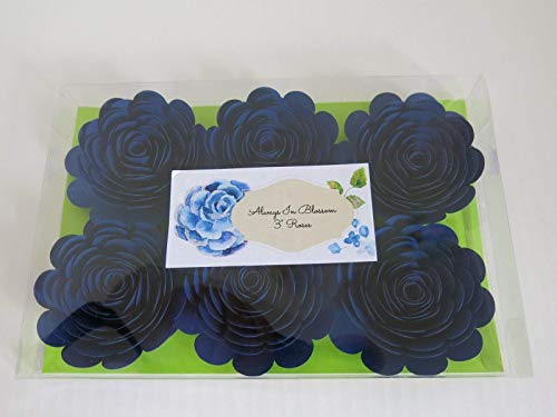Navy-Blue-Paper-Roses-Big-3-Blooms-Set-of-6-Wedding-Flowers-Bridal-Shower-Decor-Baby-Nursery-Event-Planning-Floral-Decorations-Always-In-Blossom