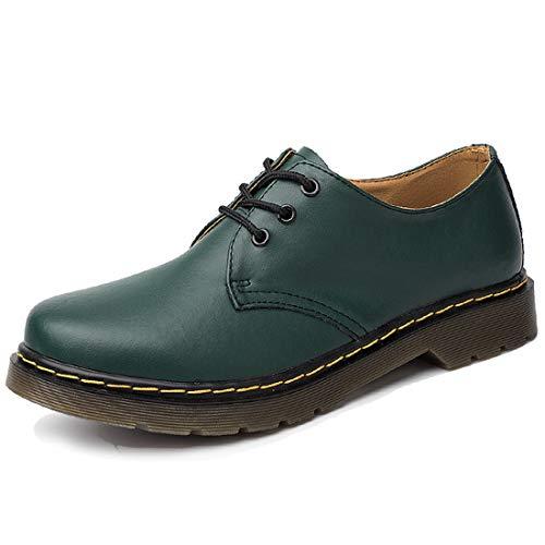 [WEWIN] マーティンブーツ ワークブーツ メンズ 本革 大きいサイズ ローカット スニーカー 防水ブーツ 靴 ショートブーツ 厚底 防滑 (28.0m  グリーン)