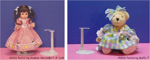 Used, Kaiser Doll Stand 2001, Box of 12 - White Doll Stands for sale  Delivered anywhere in USA