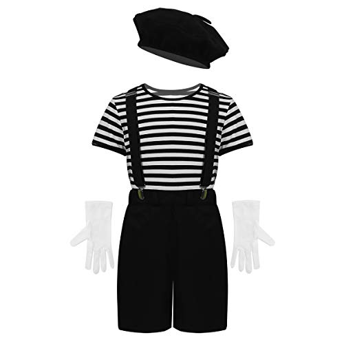 winying Kids Boys Girls French Mime Artist