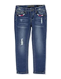 "Vigoss Little Girls' Toddler ""Embroidered Angles"" Skinny Jeans"
