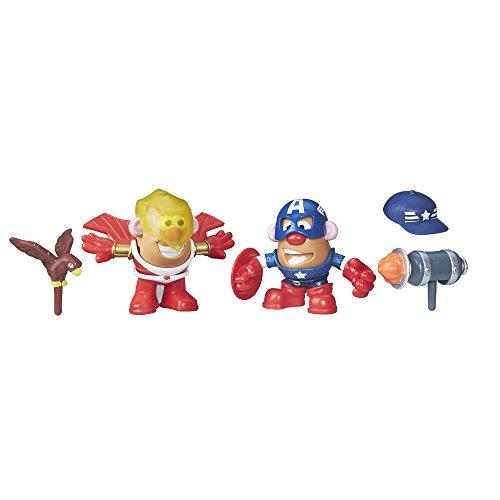 (Playskool Friends Mr. Potato Head Marvel Captain America & Marvel's Falcon)