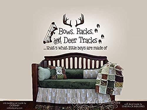 Wall Vinyl Decal Home Decor - Art Sticker Bows Racks & Deer Tracks That