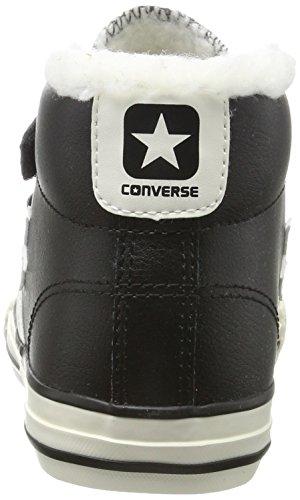 Converse Star Player Ev 3v Mid Black/Egret, Zapatillas Altas Unisex Niños Schwarz (Black)