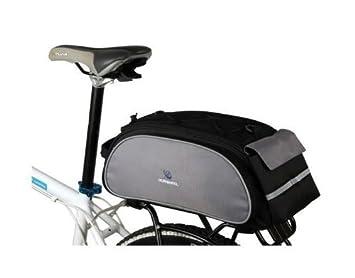 Roswheel Bike Rack Bag Seat Cargo Rear Pack Trunk Pannier Handbag New Black