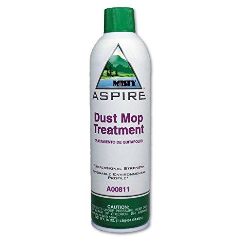 Misty 1038049 Aspire Dust Mop Treatment, Lemon Scent, 20 Oz. Aerosol Can, 12/carton