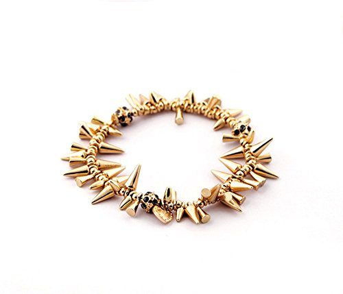 Ann Summers Costumes Christmas (Yellow Gold Spike Chain Fashion Statement Bracelet 6 Inch)