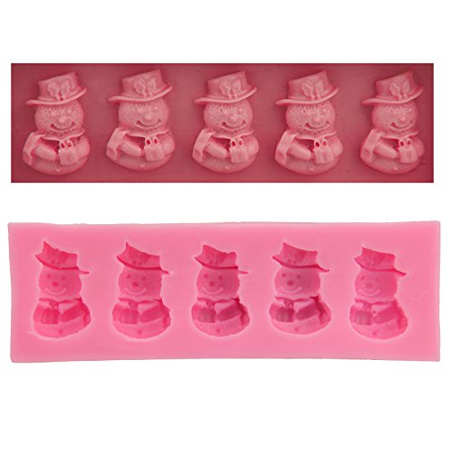 Let'S Diy Little Snowman Silicone Cake Molds Non-Stick Fondant Sugar Jelly Jello Ice Lace Moulds Kitchen Accessories -