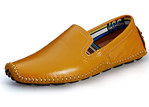 Lapens Lplfs8503, Mocassini uomo nero Black, giallo (Yellow Brown 1), 40 EU