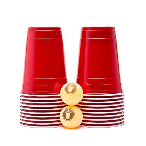 Red Reload Beer Pong Set (20 Cups & 2 Balls )]()