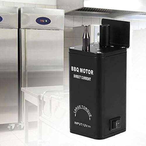 EU Jeffergarden El Motor el/éctrico del Horno 12V DC BBQ BBQ Barbacoa Grill Rotisserie Motor el/éctrico con Adaptador de Clips
