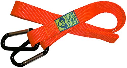 Walk Your Dog With Love Adjustable Vehicle Safety Belt for Dogs, Worry Free Driving, 1 Inch Wide, Hunter Orange