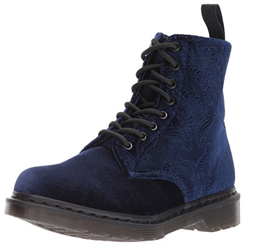 Dr. Martens Womens 1460 Brokade Combat Boot Navy